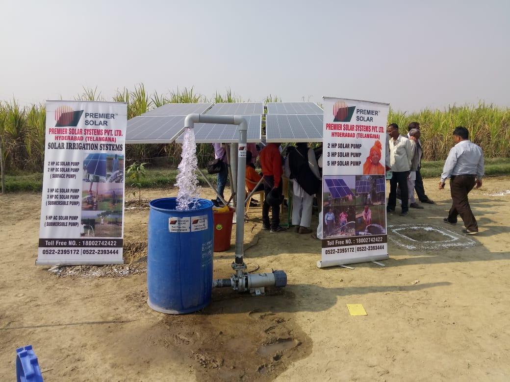 Rotosol Solar Pumps on display at Krishi Kumbh